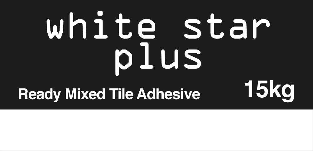 White Star ready mixed tile adhesive