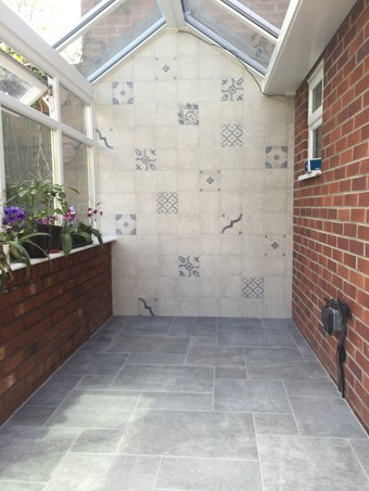 artisan wall tiles and eternal floor tiles combination