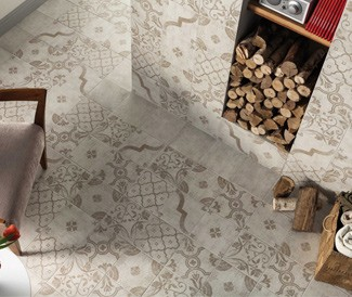 Artisan Country Kitchen patterned tile