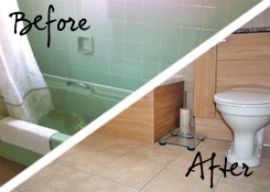 before and after tiling projects