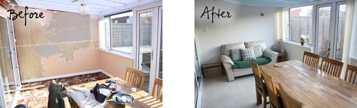 Rich's Conservatory Before and After