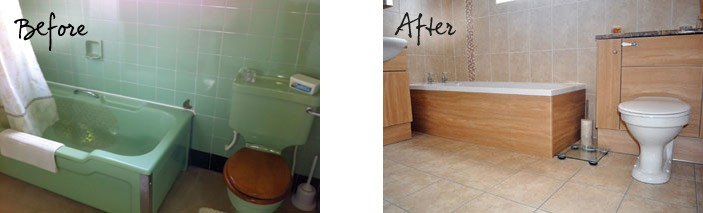 Mr and Mrs Windsor's Bathroom Before and After