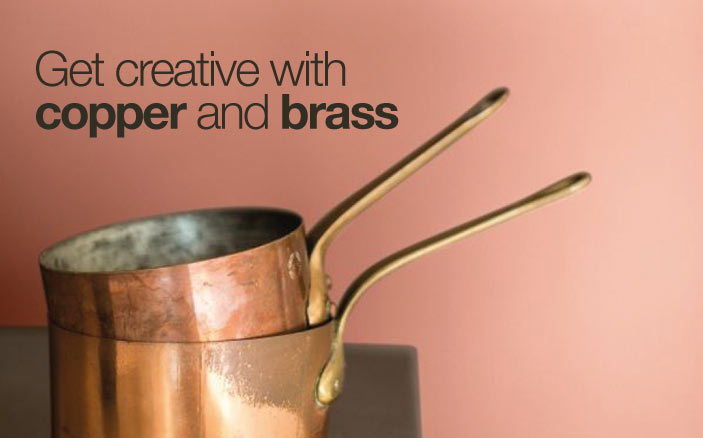 get creative with copper and brass