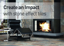 Create an impact with stone effect tiles