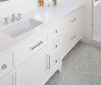 Hexagonal Tile Bathroom