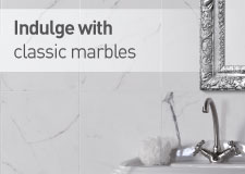 Indulge with classic and contemporary marbles