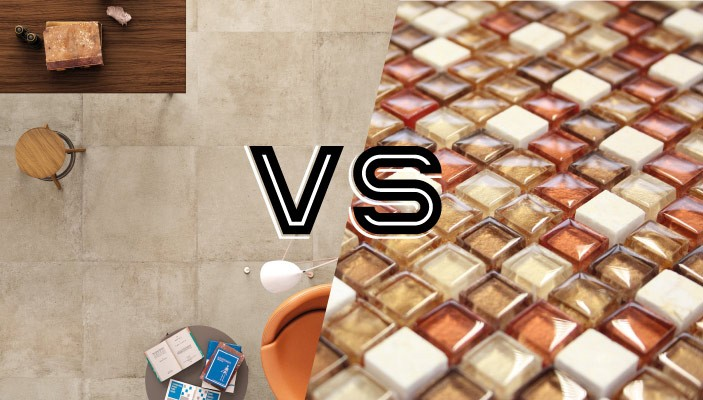 large format vs mosaic tiles