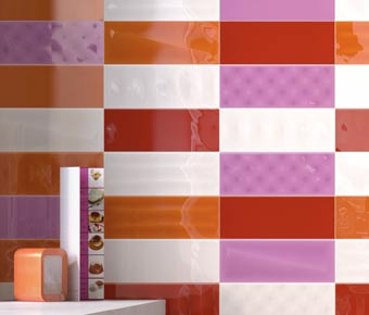 milano orange bathroom kitchen tiles