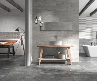 fusion minimal tile interior design