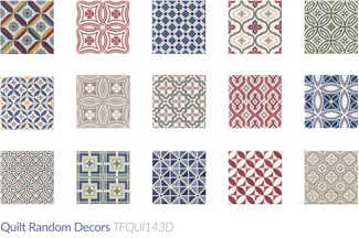quilt patchwork and pattern tiles