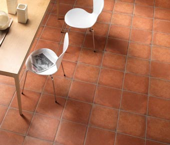 forest terracotta effect floor tiles