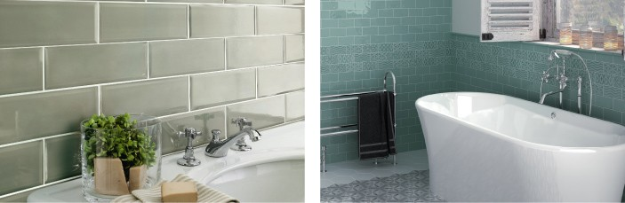 Elegant Using Green Tiles Idea
