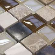 Cream Gold Stone/Glass Mosaic