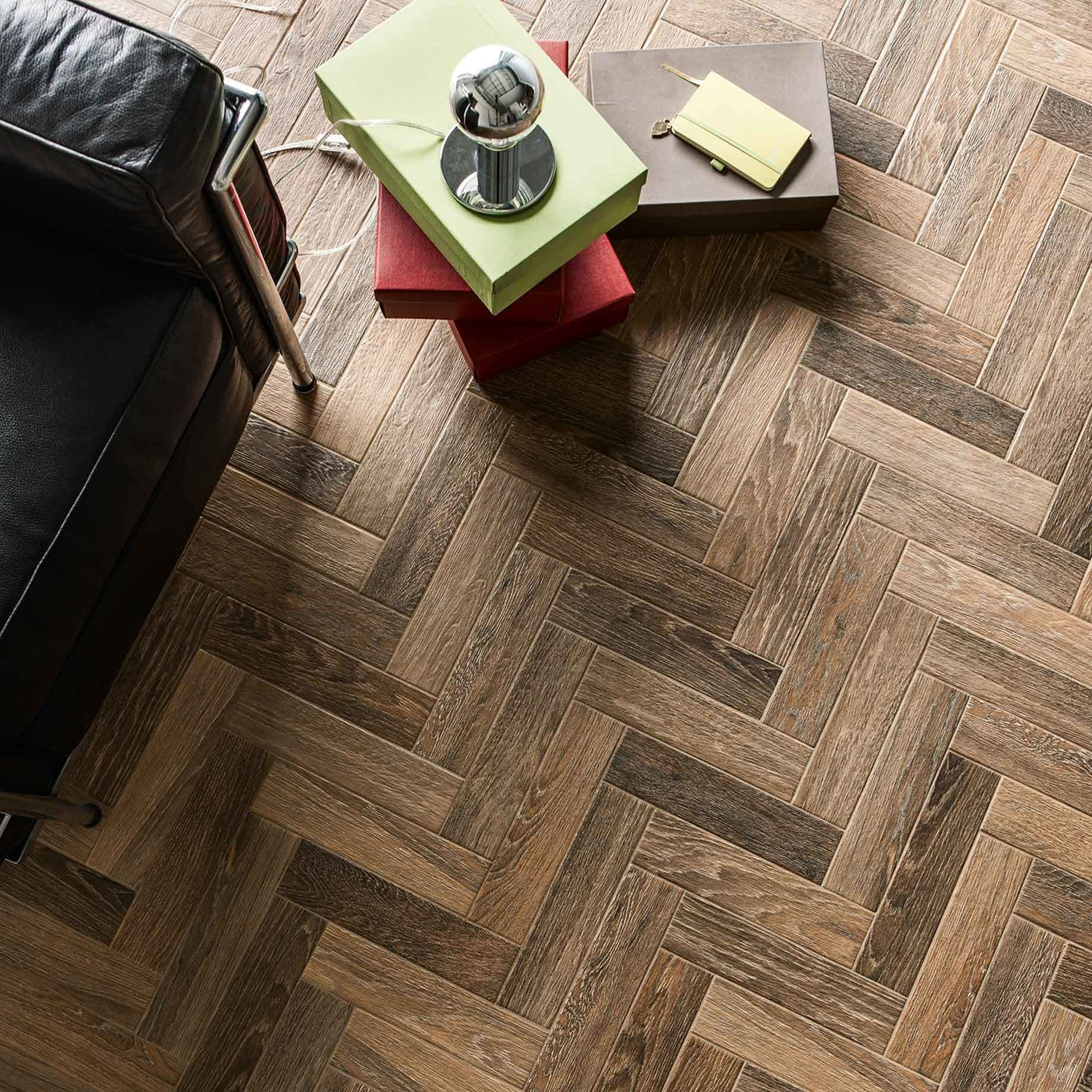 French Parquet Brown Tile
