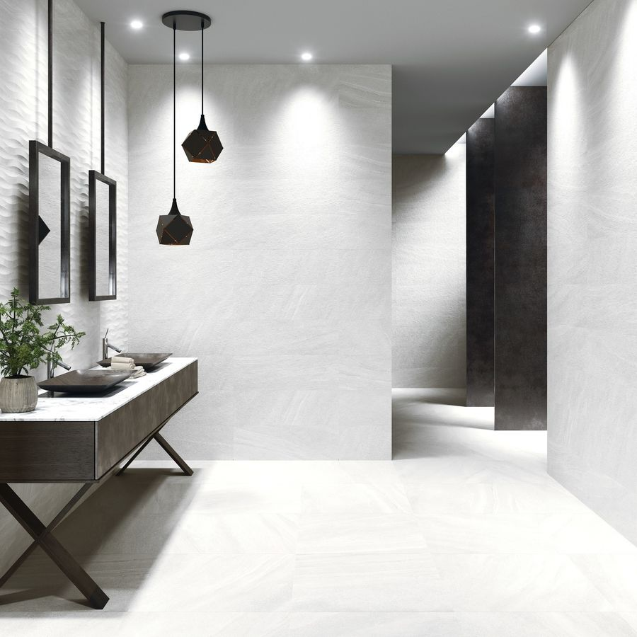 New York White Floor Tiles